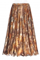 Belly dance printed skirt - autumnal beauty