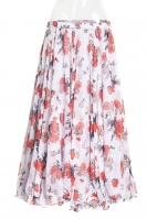 Belly dance printed skirt - red posies