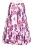 Belly dance printed skirt - party pink