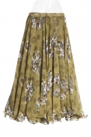 Belly dance printed skirt - green bouquet