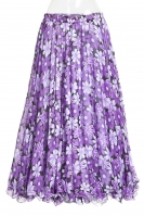 Belly dance printed skirt - purple blossom