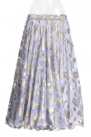 Belly dance printed skirt - lilac gold leaf