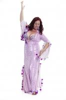 Aziz WOW! Belly dance special sa'idi dress/galabia - Spangle Bab