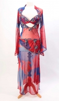 Belly dance special sa'idi dress/galabia - Gentle Romance