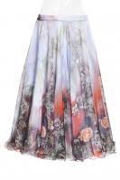 Belly dance superior printed skirt -  fairytale