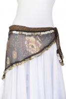 Coin edge triangle belly dance belt