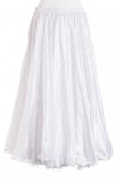 Snow white silk belly dance skirt