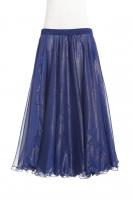 Deluxe chiffon circular skirt - royal blue + gold sheen