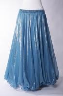 Deluxe chiffon circular skirt - turquoise + mellow gold sheen