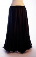 Ebony silk belly dance skirt