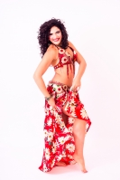 Hallah for Brighton Orient Belly dance couture costume - Summer