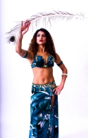 Eman for Brighton Orient Belly dance couture costume - Pearled
