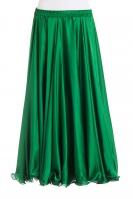 Emerald green silk belly dance skirt