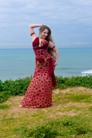 Eman for Brighton Orient Belly dance couture costume - Glamour