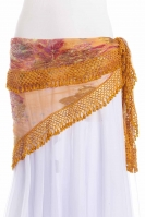 Large crocheted edge belly dance belt