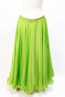 Lime green silk belly dance skirt