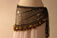 Mesh belly dance belt