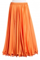 Orange silk belly dance skirt