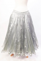 Pleated belly dance skirt - shimmering silver