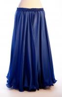 Royal blue silk belly dance skirt
