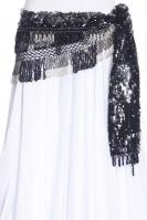 Sequinned net crochet belly dance belt
