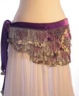 Velvet heart belly dance belt