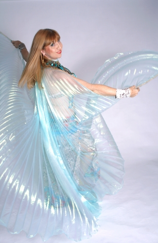Belly dance iridescent organza Goddess wings - in various colour
