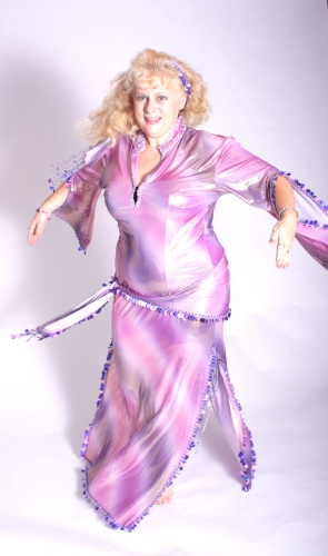 Belly dance sa'idi dress/galabia - Mermaid Moondance