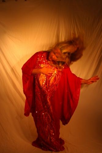 Belly dance Khaligi dress in Red