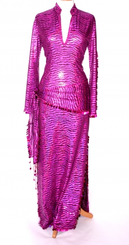 Belly dance sa'idi dress/galabia - Pink Leopard Print