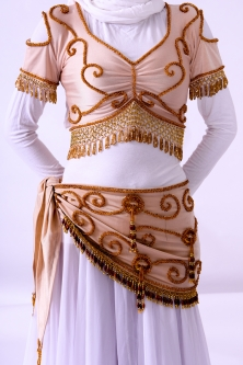 Belly dance belts for tops - Light gold and gold