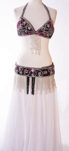 Belly dance bra and belt set - Modern Romance