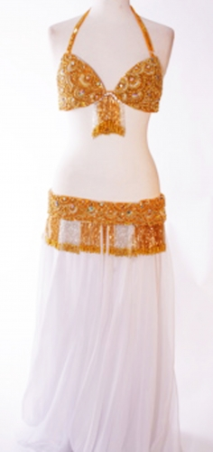 Belly dance bra and belt set - Sun-sation