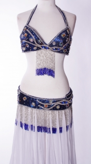 Belly dance bra and belt set - Electric Light