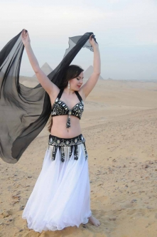 Belly dance bra and belt set - Shining Star
