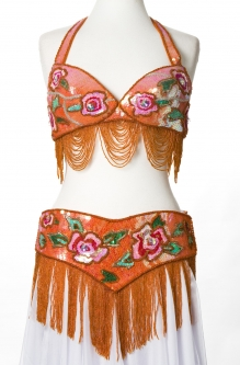Belly dance bra and belt set - Funky Twist