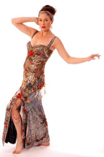 Belly dance cabaret dress - Be-Dazzled!