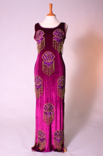 Belly dance cabaret dress - Royal Purple and Gold