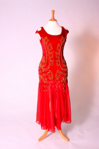 Belly dance cabaret dress - True Red