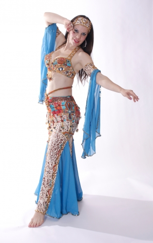 Belly dance cabaret costume - Egyptian Enchantment