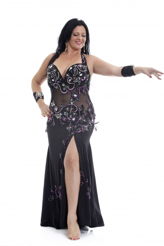 Belly dance cabaret dress - Queen of the Night