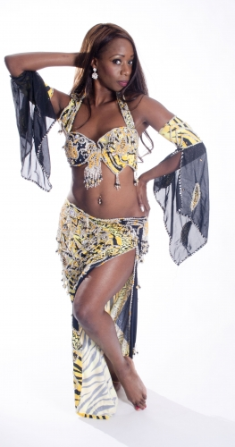 Belly dance cabaret costume - African Thrill