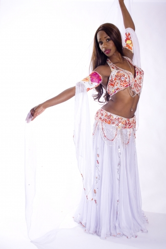 Belly dance cabaret costume - Snow Angel