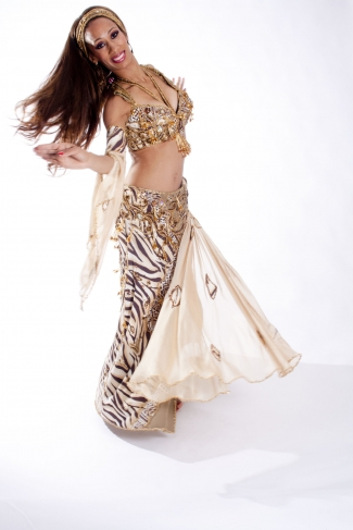 Belly dance cabaret costume - Coco Tigress