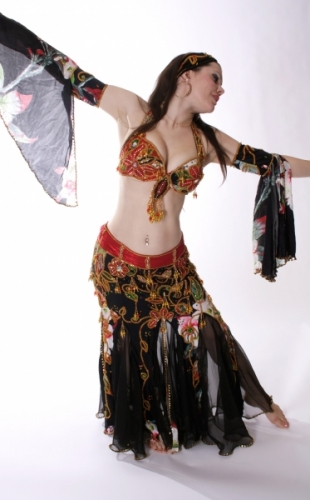 Belly dance cabaret costume - Angel of Romance