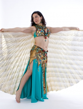 Belly dance cabaret costume - Wetlook Pharonic