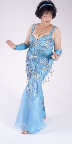 Belly dance cabaret dress - Sky Dancer