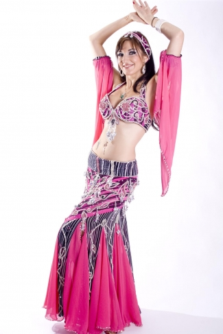 Belly dance cabaret costume - Zebra-liscious