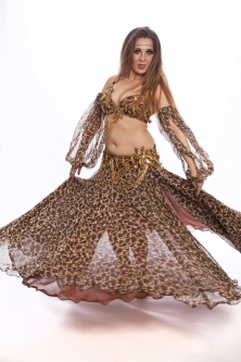 Belly dance cabaret costume - Catwoman
