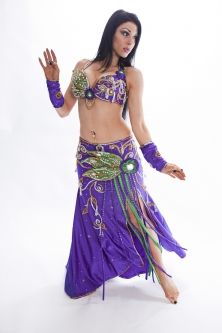 Belly dance cabaret costume - Bluebell